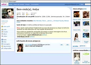 6394904712 O maior site de relacionamentos da internet está lançando um novo lay out  (imagem). A página do Orkut está mais clara