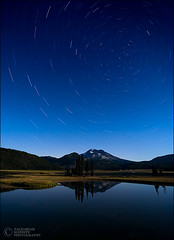 Sparks Lake Star Trails (Zack Schnepf) Tags: blue sky lake night oregon stars landscape zack sparks startrails schnepf
