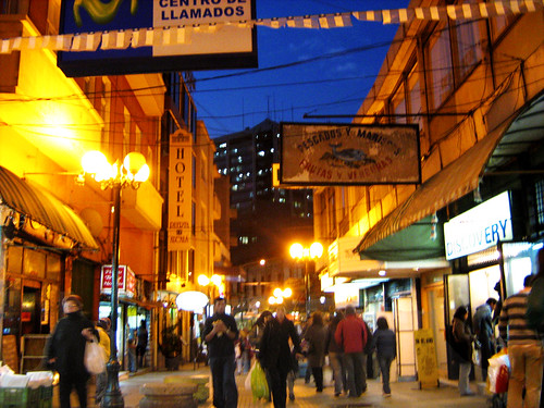 Streets of Valparaiso At Night 2