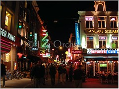 Amsterdam at Night (Lee Orchard Photography (LeoPhotography)) Tags: nightphotography people holland sports amsterdam night cafe neon nightlife pancake leeorchard leophotography