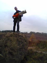 tim in quarry with RL (talkie_tim) Tags: quake forestofdean rocketlauncher timone 704573r