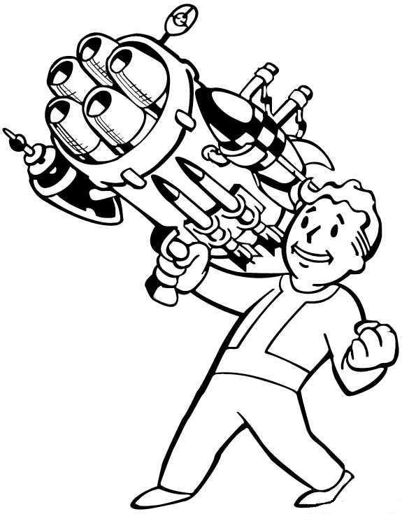 Valt Boy Coloring Page