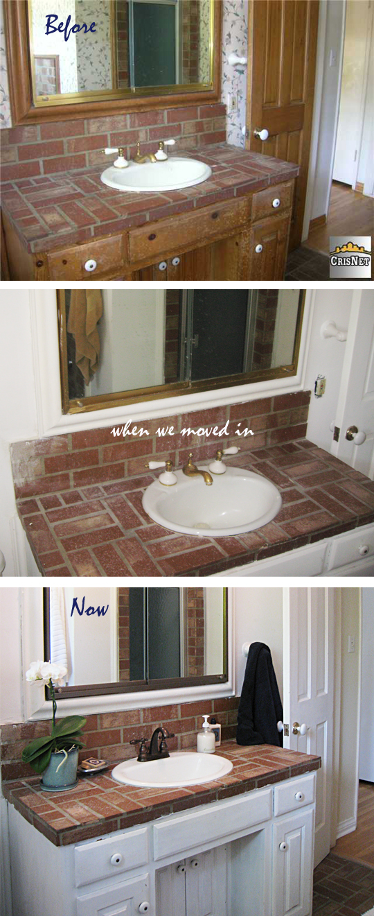 Brick Bathroom -Before and After