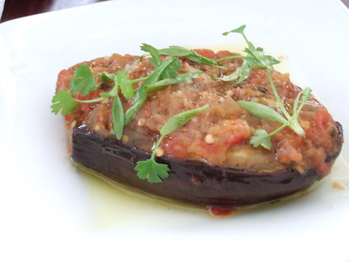 Stuffed eggplant at Zaytinya's