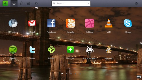 Jolicloud 1.1's HTML5 based launcher