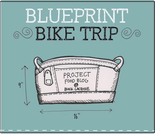 Blue Print Bike Trip Title