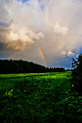 field of Luck (Aynsley Hermsen) Tags: sun field clouds rainbow almere