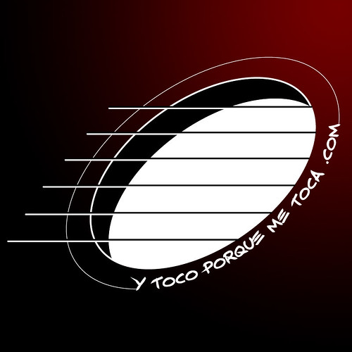 """Logo """"Y toco porque me toca"""" degradado"""