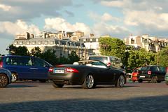 Jaguar XKR Convertible 2009 (navnetsio) Tags: auto black paris france car matt flat convertible spot mat exotic jaguar zwart 2009 parijs matte exotics xkr wagen gespot agai autogespot autoinformatief