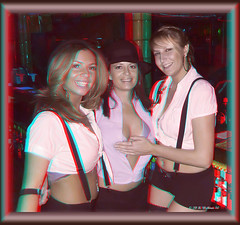 Cancun Cantina - Halloween '10 (starg82343) Tags: party halloween bar club fun costume stereoscopic 3d outfit md adult brian kristina makeup dressup maryland anaglyph bodypaint indoors stereo fantasy wallace inside tricia suspenders hanover bartenders servers jami pretend stereoscopy stereographic brianwallace stereoimage harmons adultplay cancuncantina stereopicture