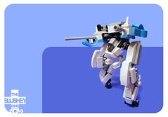mini vert tank (The Slushey One) Tags: white vertical one robot big tank pants lego slush mini vert guns slushy mecha slushee slushey