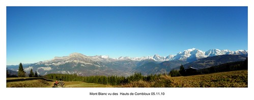 Mont Blanc depuis Combloux Haute-Savoie