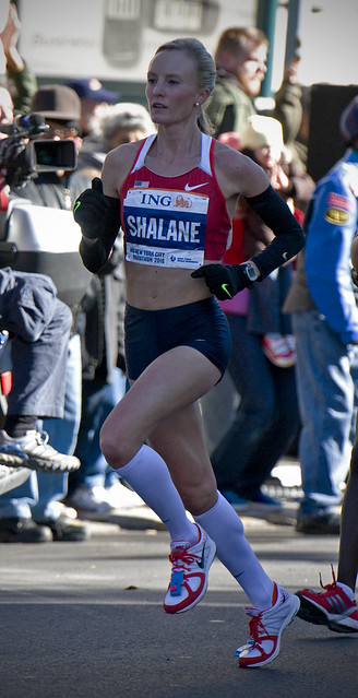 The new face of US long distance running, Shalane Flanagan.