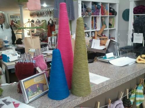 Yarn trees for tangle