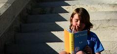 "Denton Reads: Boy Reading ""Hoot"" (Dr. Starr, geeky artist librarian) Tags: boy children reading bestof artistic library books artsy program denton hoot unt 2007 willislibrary libraryprogram dentonreads 365libs untlibraries"