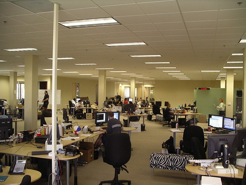 The all-new Plaxo office: Lots of Room
