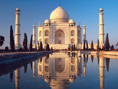 Taj Mahal At Night by