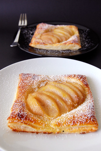 Poached White Peach Danish