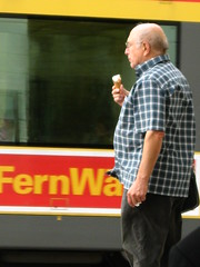 Icecream eaters in Karlsruhe, Germany