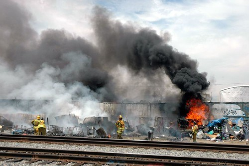 7/14/07 Salvage Yard Fire