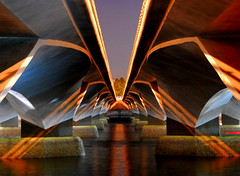 Pillars of illumination (... Arjun) Tags: lighting longexposure bridge light 15fav water rock 1025fav 510fav river support nikon singapore asia post sold under pillar illumination overpass 100v10f mainstay 2550fav 500v50f esplanade 50100fav leader mast d200 enlightenment 1000v100f pillars explanation prop stake 2007 singaporeriver 1600iso merlionpark esplanadebridge clarification solumn 18200mmf3556g bluelist 100200fav nonhdr elucidation thisisnotanhdr towerofstrength theverybestofflickr