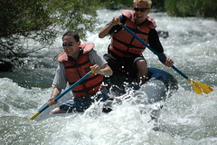 Rus and Ben River Rafting at Cache Canyon Creek