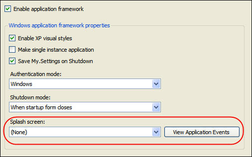 Application Framework Screenshot