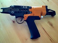 Pneumatic Gog Tie Gun (Mikey Sklar & Wendy Tremayne) Tags: ferrocement hogtie