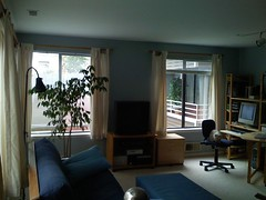 living room, E wall from NW