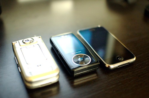 My Last Three Cell Phones