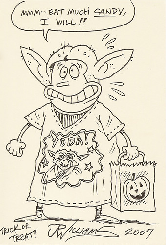Yoda sketchbook page 42 - J.R. Williams