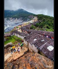 Sellers Hut's at Tangkuban Parahu (Dale Allman) Tags: people cloud nature canon indonesia wideangle bandung hdr highdynamicrange 1740 3xp tangkubanparahu photomatix jawabarat canon5dmkii 5dmkii