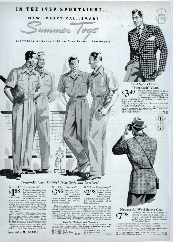 Mens fashion 1939