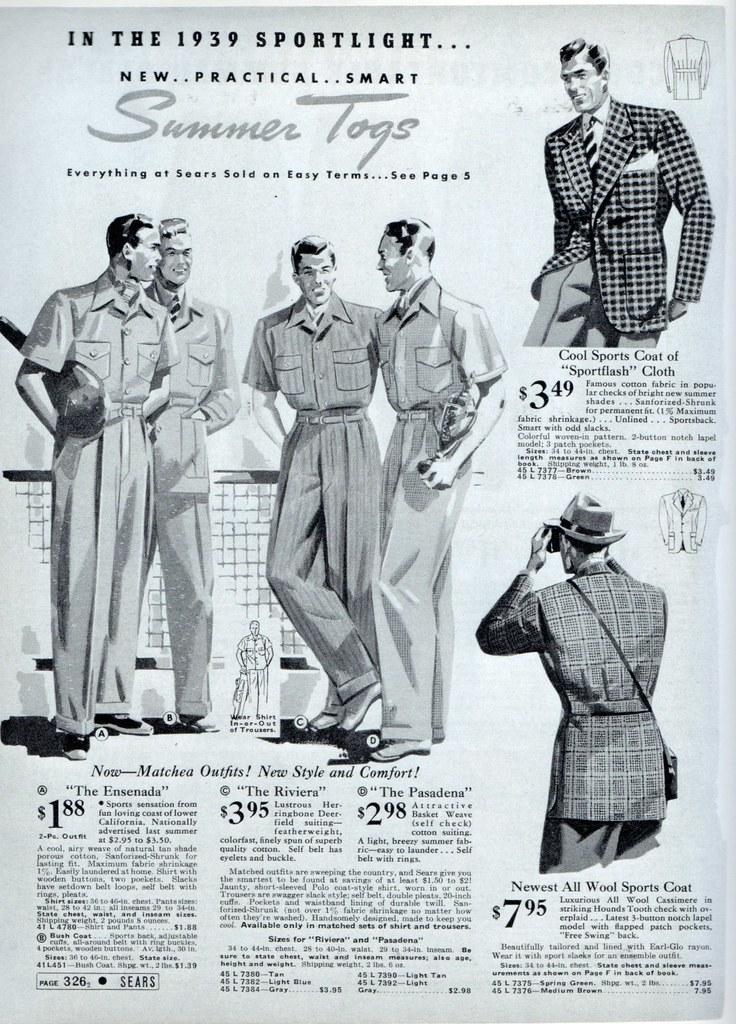 Mens fashion 1939