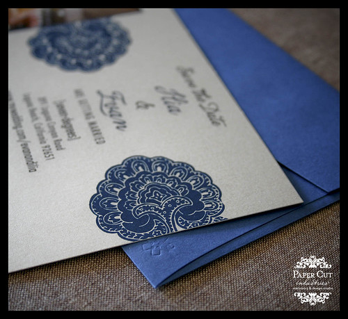 No. 10 Invitation Save the Dates Blue and Black