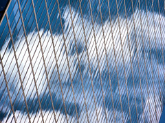 Glass Clouds (brooksbos) Tags: city blue sky urban geometric glass boston clouds reflections geotagged ma photography mirror photo skyscrapers mr sony newengland cybershot hancock bostonma copley sonycybershot bostonist bay masschusetts lurvely square back 02116 thatsboston copley dschx5v hx5v brooksbos