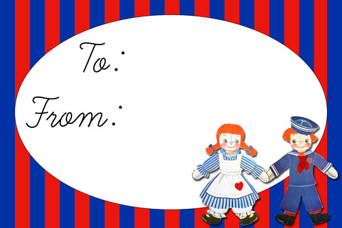 raggedy ann and Andy doll tag
