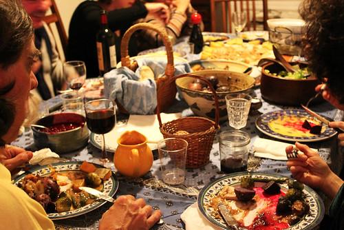 Dad, mom and the delicious spread