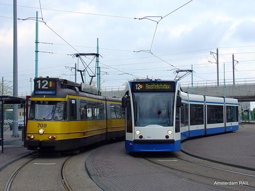 Transporte público de Amsterdam: Ponto de tram em Amsterdam