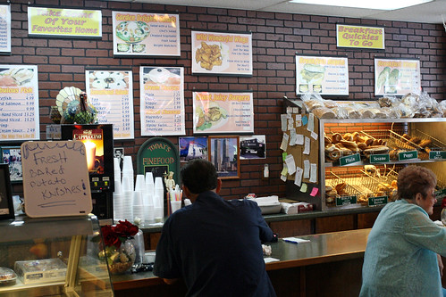 Pay at the counter, or get takeout bagels