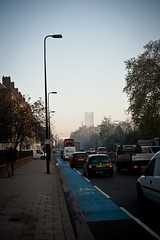 London Fog (pixelhut) Tags: city uk morning autumn england mist london fall weather fog cityscape south southlondon kennington greatbritian