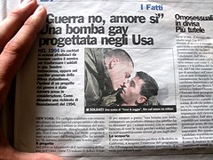 Titular sobre la misma noticia en la prensa italiana