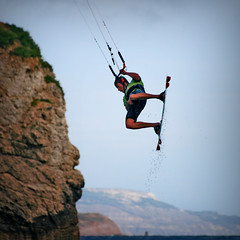 Kite Surfing @ Freshwater Bay, Isle of Wight (s0ulsurfing) Tags: ocean sea sky cliff kite motion beach nature water weather sport rock wow fun island bay coast drops dangerous fantastic bravo rocks play dynamic natural wind action board air awesome extreme flight dramatic skills surfing cliffs kitesurfing coastal isleofwight coastline extremesports splash gliding kitesurf isle wight aktion 2007 freshwater kitesurfer freiheit kitesurfen freshwaterbay abenteuer outstandingshots s0ulsurfing aplusphoto potwkkc43 coastuk tomcourt welcomeuk