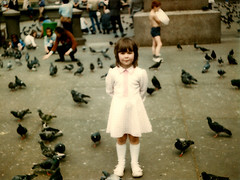 Pigeons (Eskimimi) Tags: london girl square child trafalgar mimi minimimi mimichildhoodpics
