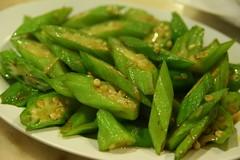 wok-fried okra (koe2moe) Tags: food malaysia melacca okra 2007 malaka iate ladyfingers ilovegreen nyonyacuisine