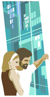 Seattle Metropolitan magazine vector illustration