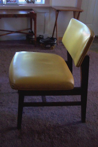 chair: fifty cents at thrift store.