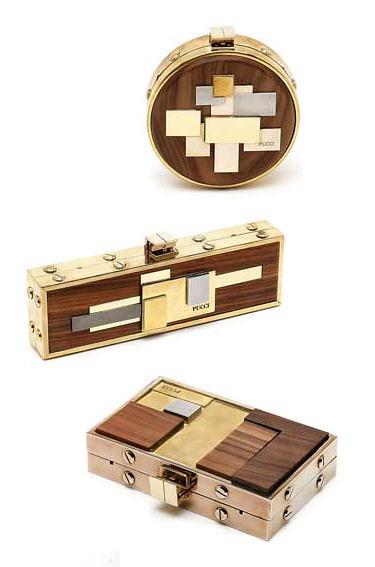 wood modern design makeup clutch motherofpearl emiliopucci