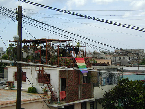 The Gay Flag, Havana por Julie Giles.