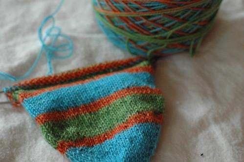 stripey sock